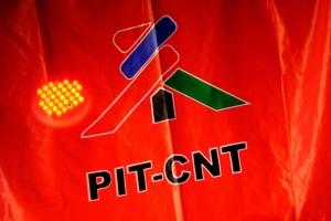 """Conferencia del PIT- CNT """"Vigencia de la unidad del movimiento sindical"""". Foto: Javier Calvelo/ adhocFOTOS"""